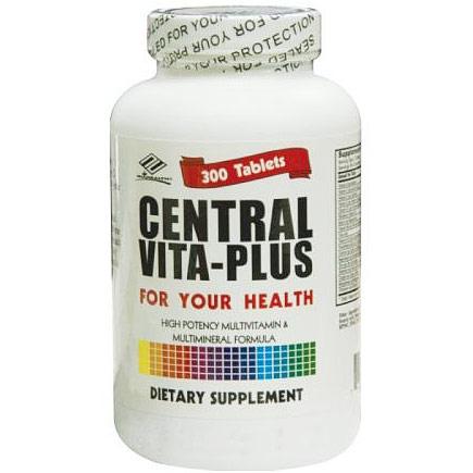 Central Vita Plus Multivitamin, Value Size, 300 Tablets, Nu Health