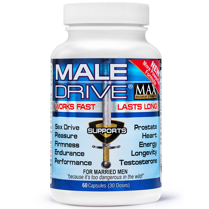 Male Drive Max, Male Enhancement, 60 Capsules, Century Systems Inc