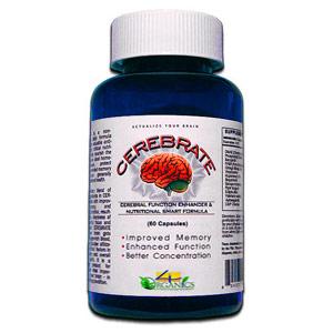 Cerebrate, Neuro-Enhancer, 60 Capsules, 4 Organics