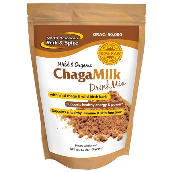 ChagaMilk Drink Mix, Wild Chaga & Birch Bark, 3.5 oz, North American Herb & Spice