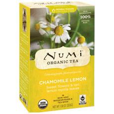 Chamomile Lemon Tea, Herbal Teasan, 18 Tea Bags, Numi Tea