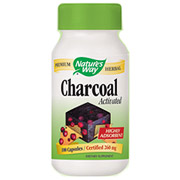 Charcoal Activated, 280 mg, 100 Capsules, Natures Way