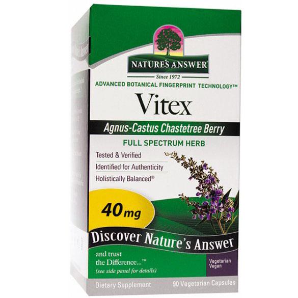 Vitex, Agnus-Castus Chaste Berry, 90 Vegetarian Capsules, Natures Answer