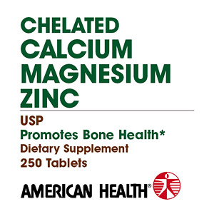 Chelated Calcium & Magnesium with Zinc 250 tabs from American Health