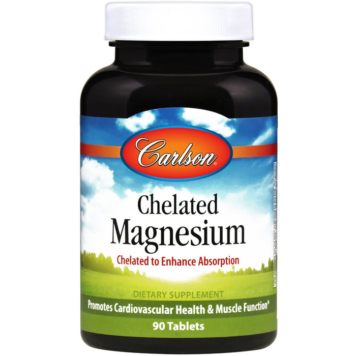 Chelated Magnesium, 200 mg, 90 tablets, Carlson Labs