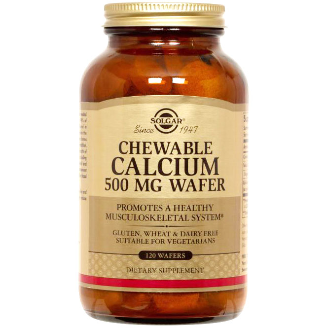 Chewable Calcium 500 mg, 120 Wafers, Solgar - CLICK HERE TO LEARN MORE