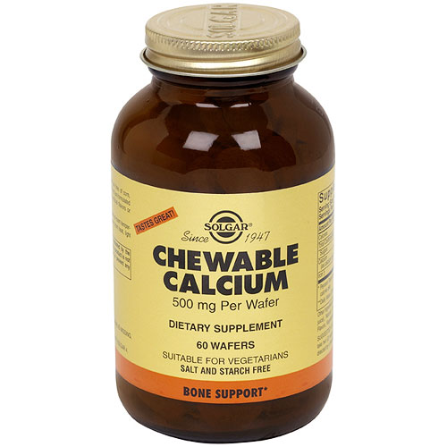 Chewable Calcium 500 mg, 60 Wafers, Solgar - CLICK HERE TO LEARN MORE