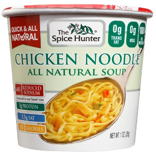 Chicken Noodle, Soup Cup, 1.0 oz x 6 Cups, Spice Hunter