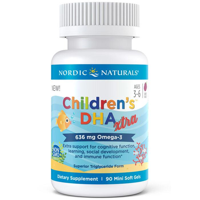 Childrens DHA Xtra, 90 Mini Soft Gels, Nordic Naturals