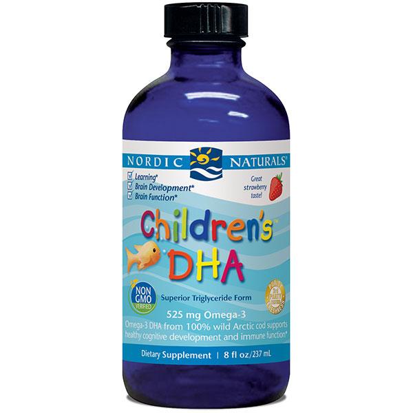 Childrens DHA Liquid, Strawberry Flavor, 8 oz, Nordic Naturals