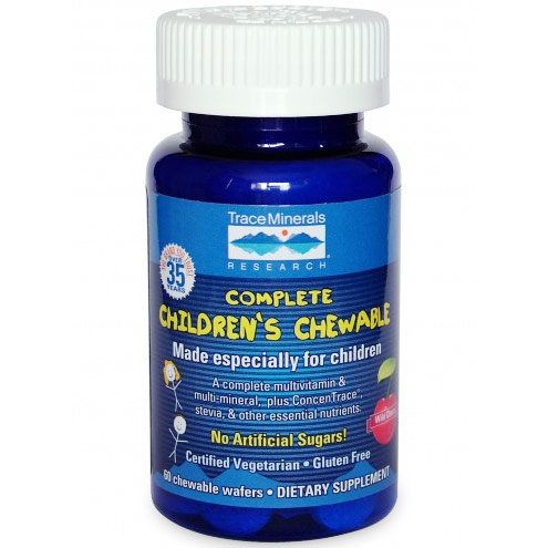 Complete Childrens Chewable, 60 Wafers, Trace Minerals Research