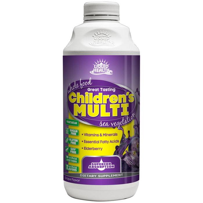Childrens Multiple Liquid Supplement, Whole Food Multivitamin, 8 oz, Liquid Health