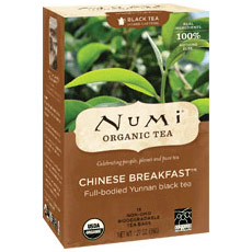 Chinese Breakfast Black Tea, 18 Tea Bags, Numi Tea