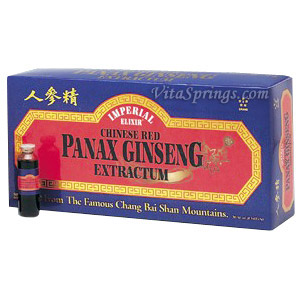 Chinese Red Panax Ginseng Extractum Vials 10 x 10 cc from Imperial Elixir Ginseng