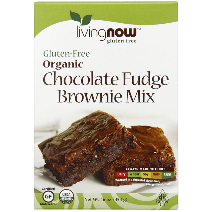Chocolate Fudge Brownie Mix, Organic, Gluten-Free Baking Mix, 16 oz, NOW Foods