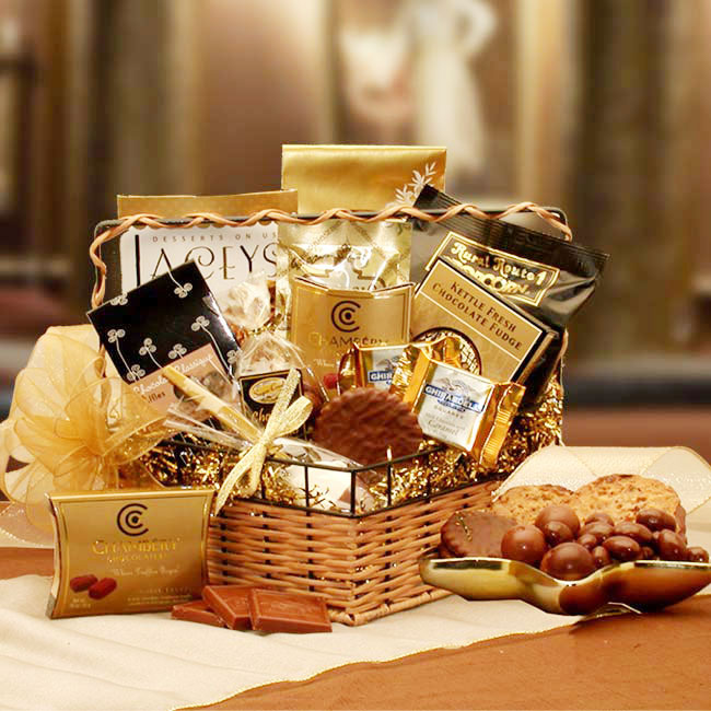 Chocolate Treasures Gourmet Gift Basket, Elegant Gift Baskets Online