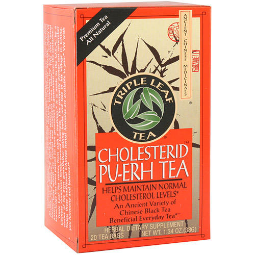 Cholesterid Pu-Erh Tea, 20 Tea Bags x 6 Box, Triple Leaf Tea