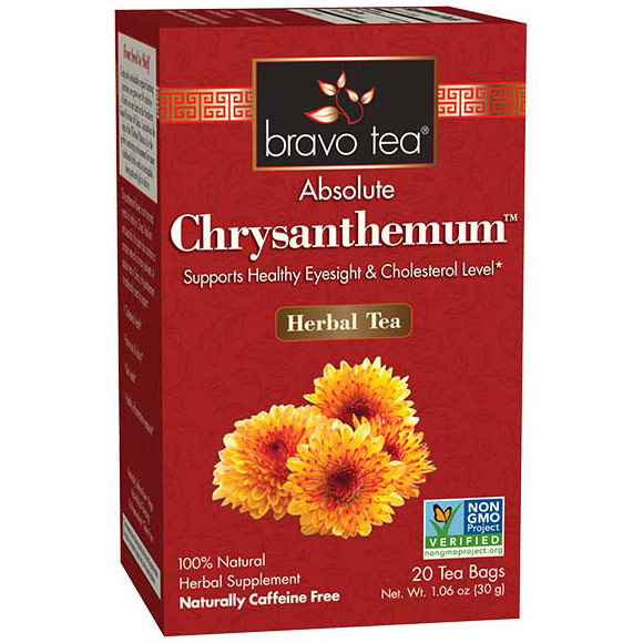 Absolute Chrysanthemum Herbal Tea, 20 Tea Bags, Bravo Tea