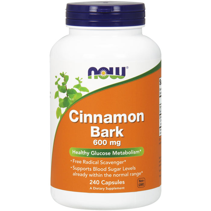 Cinnamon Bark 600 mg, Value Size, 240 Capsules, NOW Foods