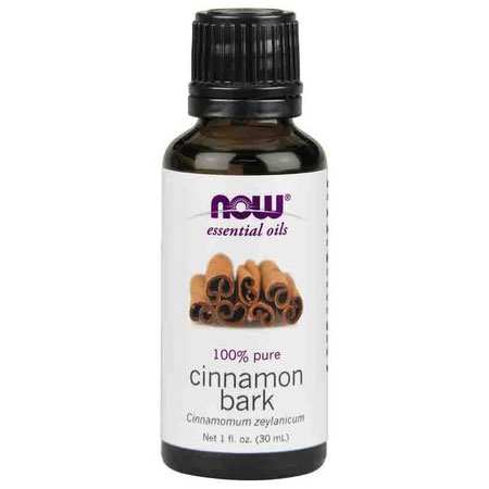 Cinnamon Bark Oil, Pure Essential Oil 1 oz, NOW Foods
