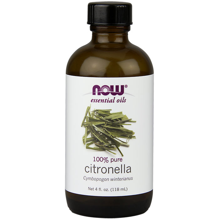 Citronella Oil, Pure Essential Oil, 4 oz, NOW Foods