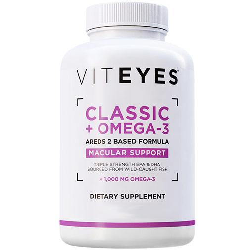 Classic AREDS 2 Based Formula + Omega 3, Eye Health Supplement, 90 Softgels, Viteyes