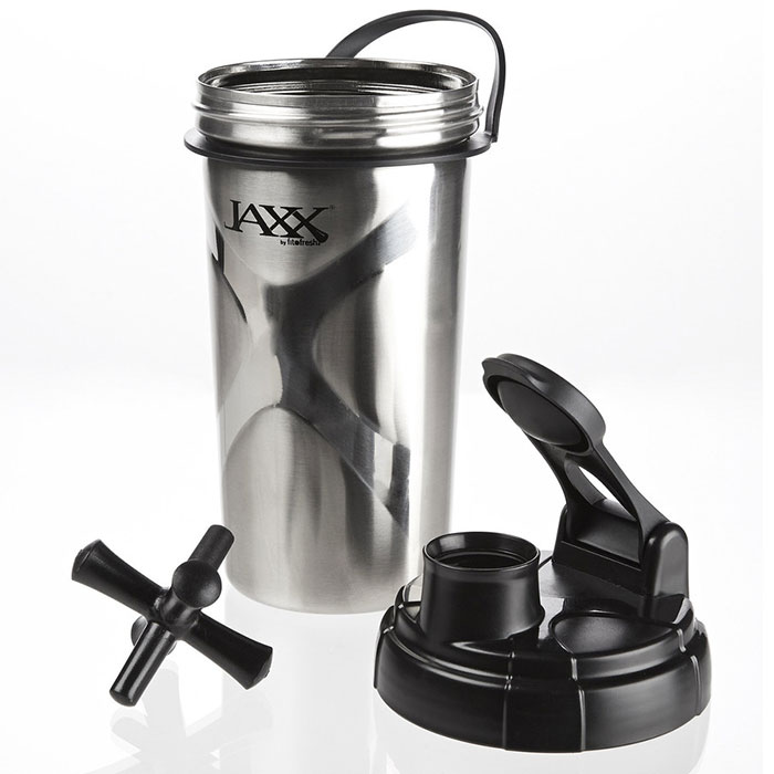 Jaxx Shaker Cup Stainless Steel, 24 oz, Fit & Fresh