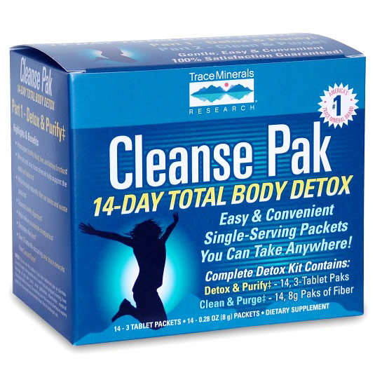 Cleanse Pak, 14-Day Total Body Detox, 1 Kit, Trace Minerals Research