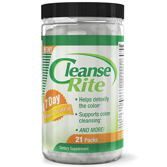 Cleanse-Rite 7 Day Colon Cleanse System, 21 Packs of Capsules, Newton-Everett