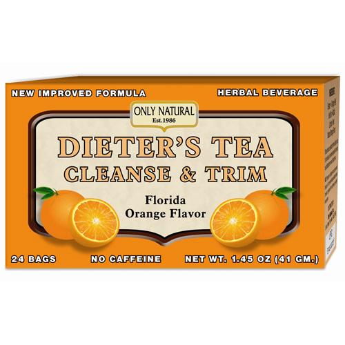 Dieters Tea, Orange, 24 Bag, Only Natural Inc.