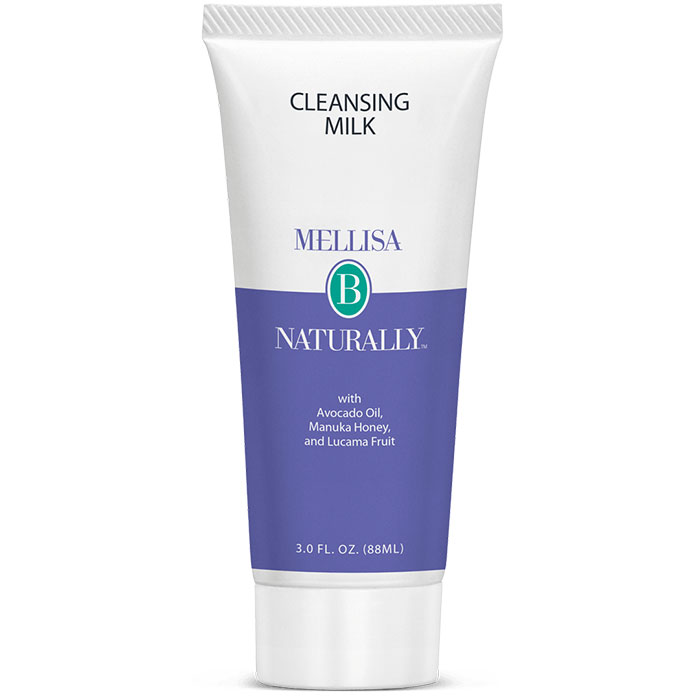 Cleansing Milk, Gentle Facial Cleanser, 3 oz, Mellisa B Naturally