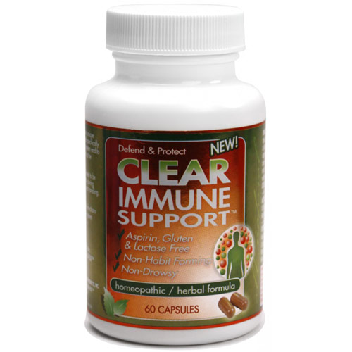 Clear Immune Support, Homeopathic/Herbal Formula, 60 Capsules, Clear Products