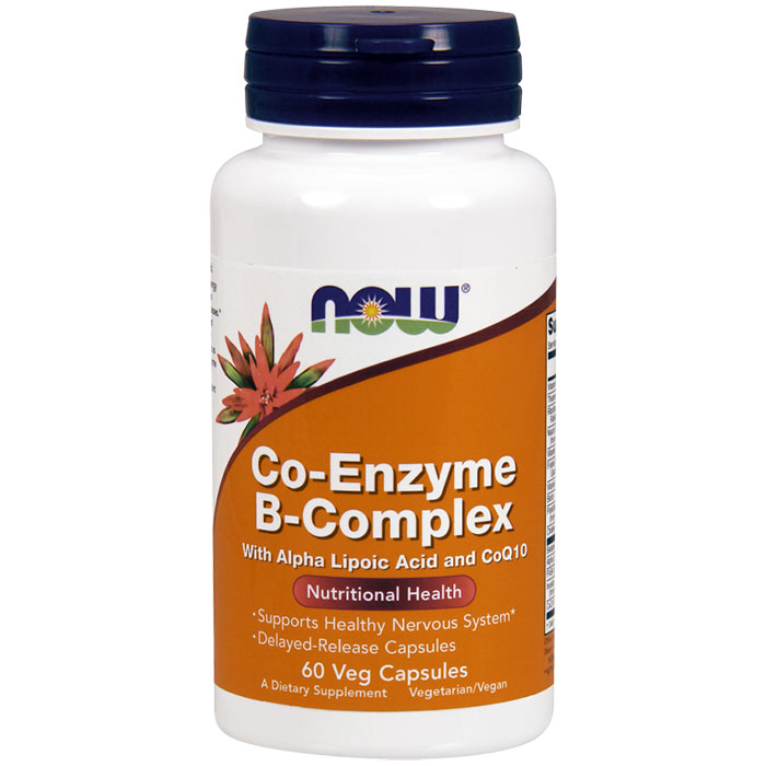 Co-Enzyme B-Complex, 60 Veg Capsules, NOW Foods