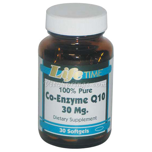 Co-Enzyme Q10 30 mg, 30 Softgels, LifeTime