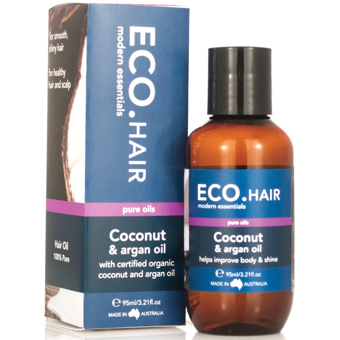 ECO Coconut & Argan Hair Oil, 3.21 oz, Eco Modern Essentials