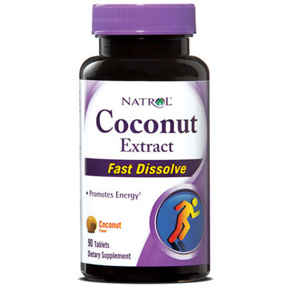 Coconut Extract Fast Dissolve, Coconut Flavor, 90 Tablets, Natrol