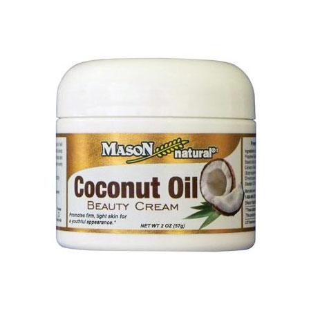 Coconut Oil Beauty Cream, 2 oz, Mason Natural