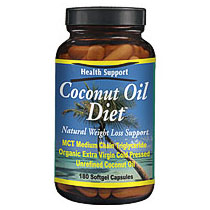 Coconut Oil Diet, 180 Softgels, Health Support