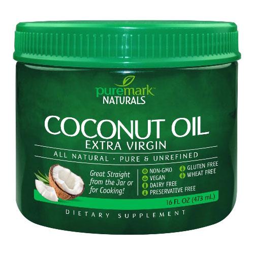 Coconut Oil Extra Virgin, 16 oz, PureMark Naturals