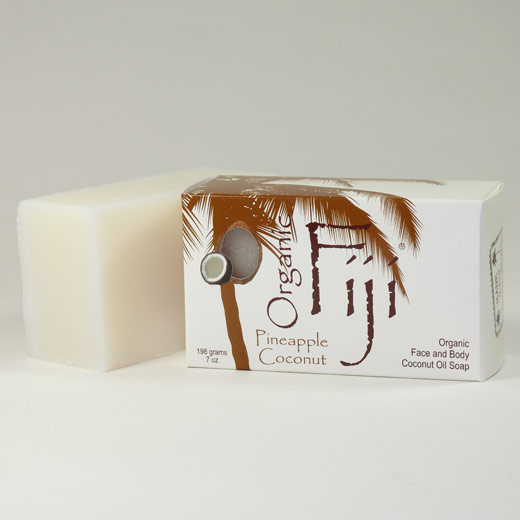 Organic Coconut Oil Soap, Pineapple Coconut, 240 gm bar, Organic Fiji (Bath and Beauty - Soaps)