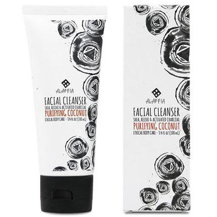 Coconut Reishi Purifying Facial Cleanser, 3.4 oz, Alaffia