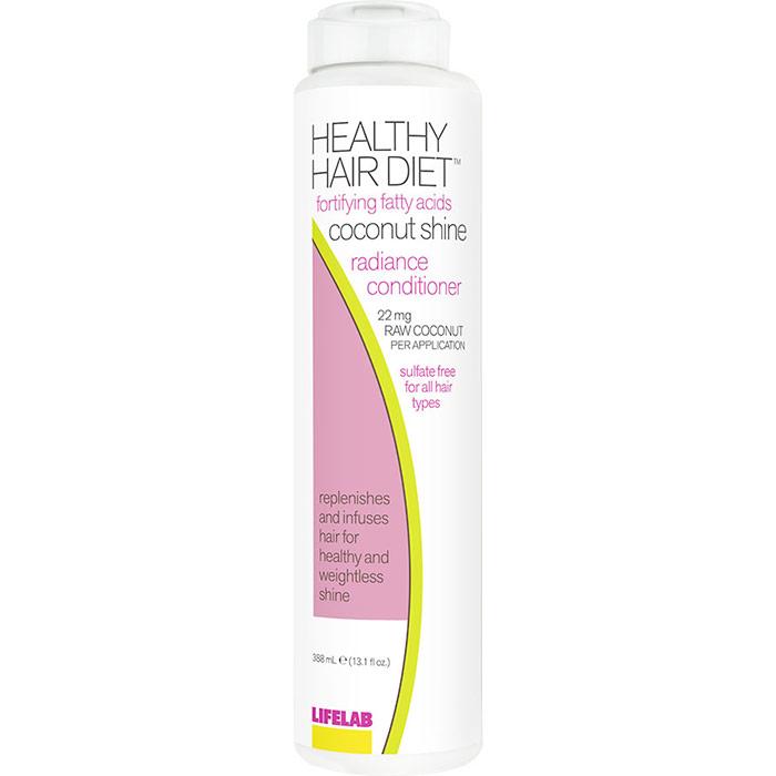 Healthy Hair Diet Fortifying Fatty Acids Coconut Shine Radiance Conditioner, 13.1 oz, LifeLab