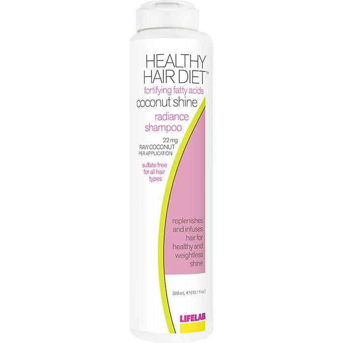 Healthy Hair Diet Fortifying Fatty Acids Coconut Shine Radiance Shampoo, 13.1 oz, LifeLab