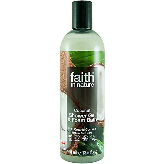 Coconut Shower Gel & Foam Bath, 13.5 oz, Faith in Nature