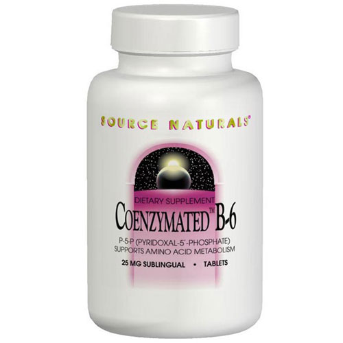Coenzymated B-6 300mg, 60 Tablets, Source Naturals
