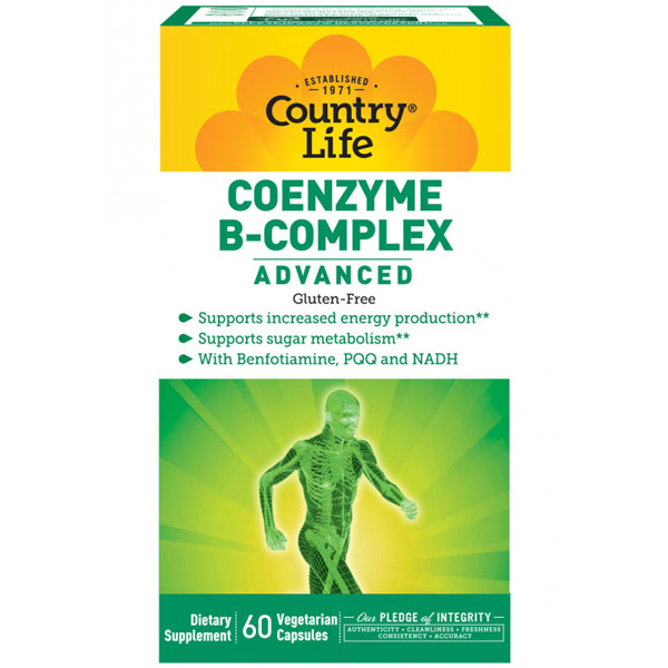 Coenzyme B-Complex Advanced, 60 Vegetarian Capsules, Country Life