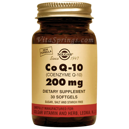 Coenzyme Q-10 200 mg, 30 Softgels, Solgar CoQ10