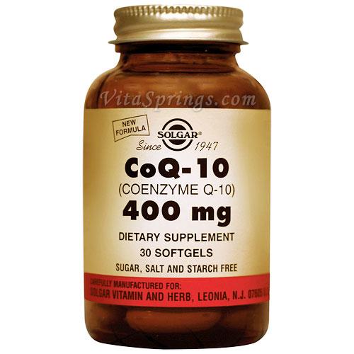 CoQ-10 400 mg (Coenzyme Q-10, CoQ10), 30 Softgels, Solgar