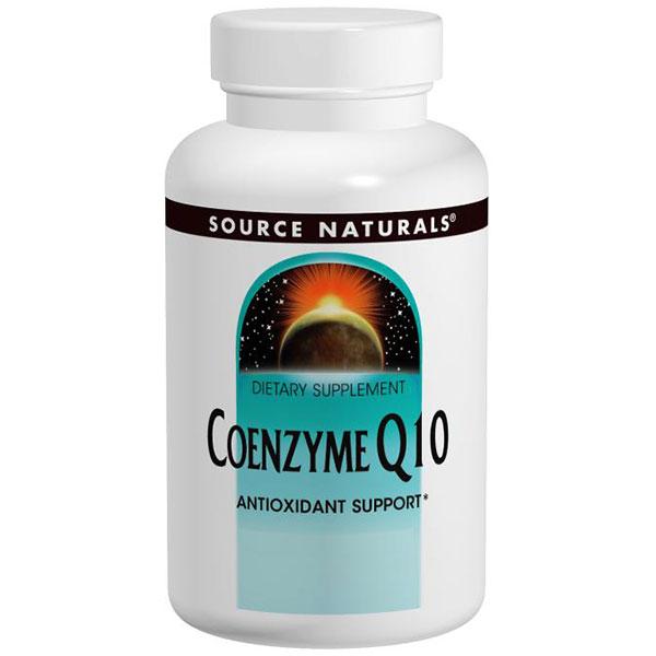 Coenzyme Q10 200 mg, CoQ10 Antioxidant, 90 Softgels, Source Naturals
