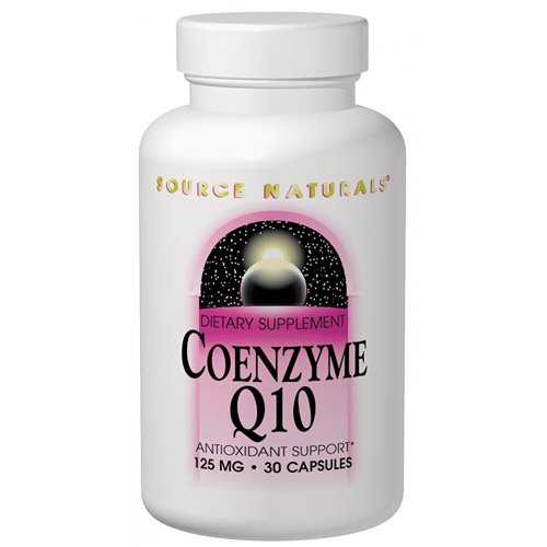 Coenzyme Q10, CoQ10 125mg 30 caps from Source Naturals